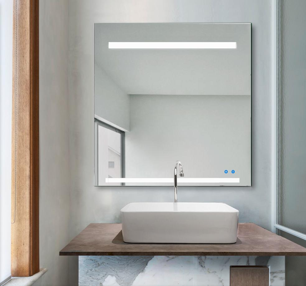 claire 80x80 a Espejo luz LED