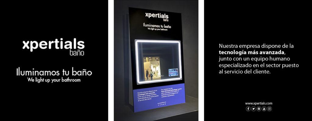 Cevisama espejos stand arquitectos decoradores2 Espejo luz LED
