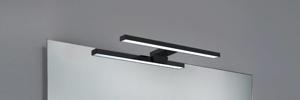 BH1330 2 negro Espejo luz LED