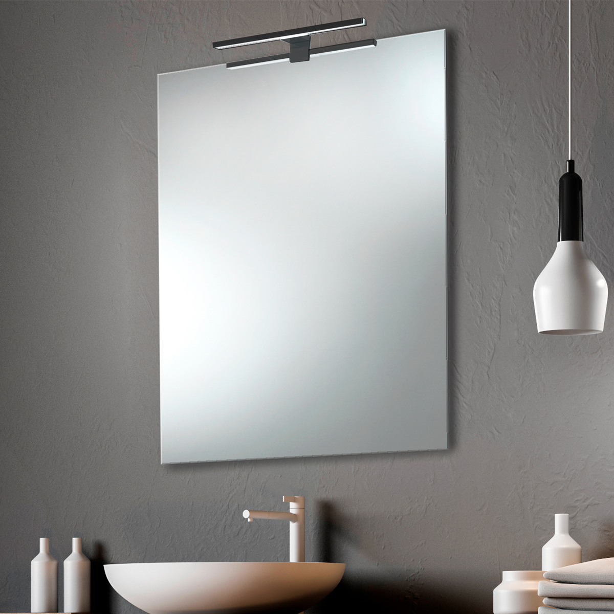 lisboa alba foco negro 1 Espejo luz LED
