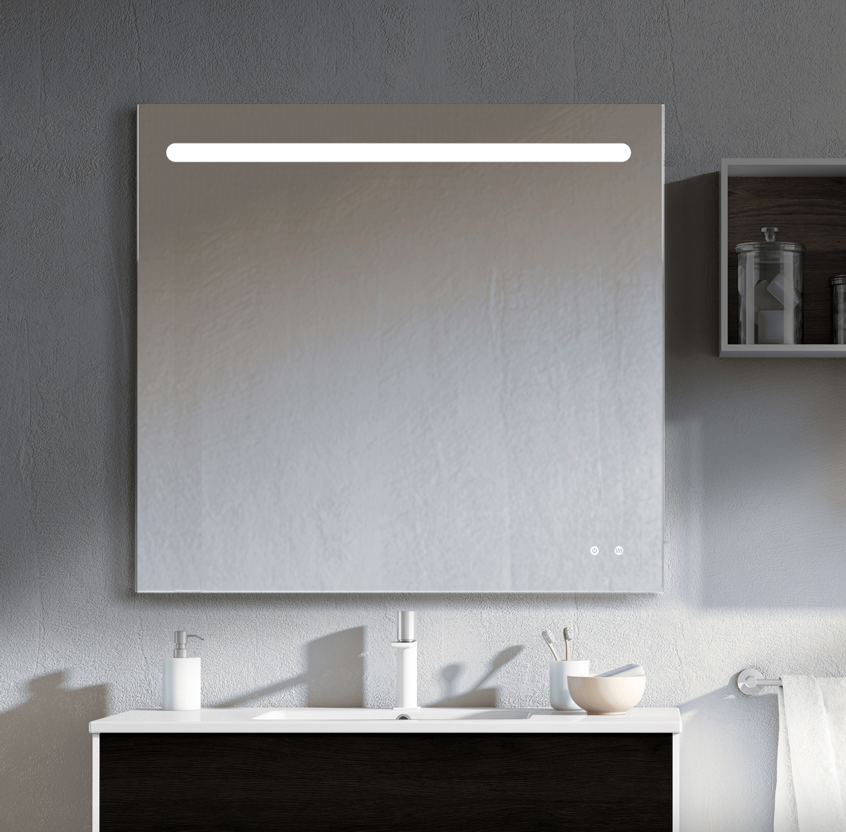 nairobi basha Espejo luz LED