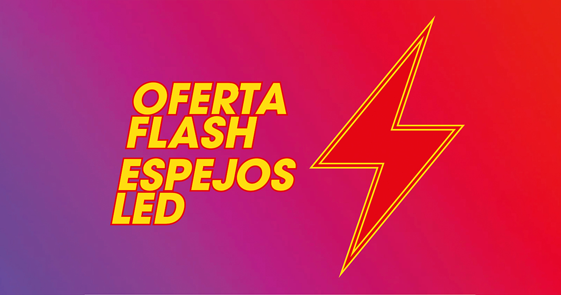 oferta flash espejos led Espejo luz LED